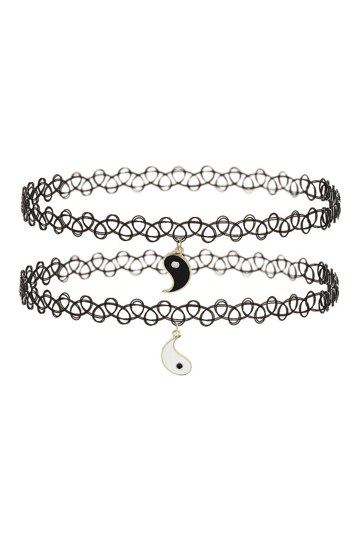Yin Yang Charm Tattoo Chokers - Necklaces - Jewelry - Bags & Accessories- Topshop USA