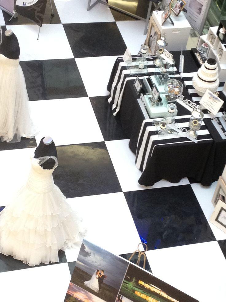 black & white check floor for bridal fair - ABS