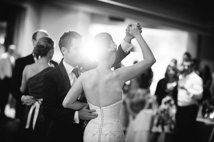 The first dance. Beautiful Jasmine in Peter De Petra couture.