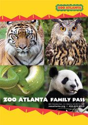 Free Admission to the Atlanta Zoo whenever you visit your georgia public library. It gets 2 adults and 2 kids in for free. You can only do it once a year but its definitely worth it.