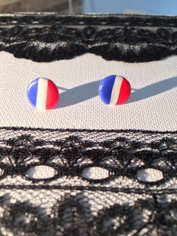 boucles d'oreilles drapeau de la France ou Pays bas par EMBOUTIQUEE