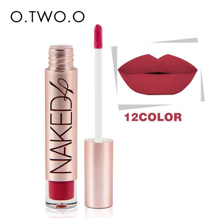 O.TWO.O Brand High Quality Matte Color Lip Gloss Easy to Wear Long Lasting Lips Makeup Lipstick Liquid Lipgloss Matte