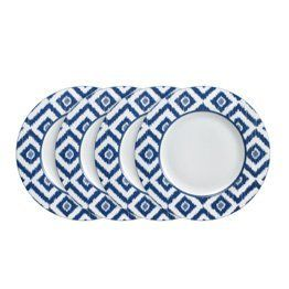 Mikasa Ikat Blue Dinner Plates Set of 4 by Mikasa. $59.99. This modern  sc 1 st  Pinterest & 16 best Dinner plates images on Pinterest | Blue dinner plates ...
