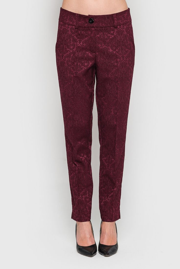 Bordeaux classic arrowed jacquard pants 29$. Classic arrowed pants- an essential attribute of every modern woman's wardrobe. If you tsenitelnits classical and even a bit harsh image, in its creation without such elements as classic Pants, you just can not do! Also, wear a dress can be not only in the office or on a business meeting, but any ceremony, as timeless classics. #VOVK