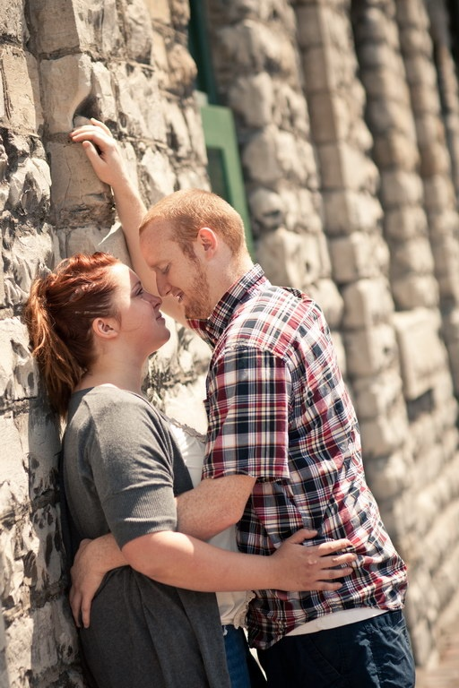 Romance at the Distillery District Toronto Engagement Photo