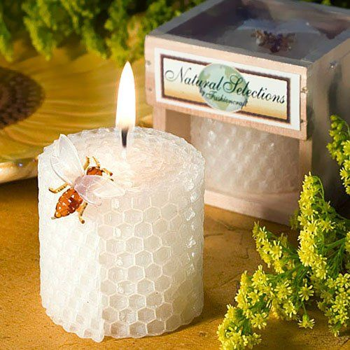 Beeswax Honeycomb Candle Favors by Beau-coup, 84$
