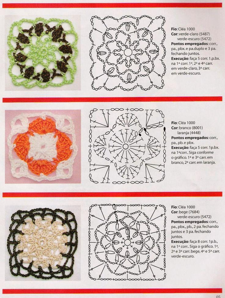 1000 images about motivos aplicaciones grannys - Aplicaciones en crochet ...