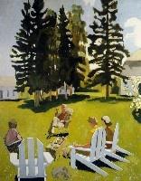 Fairfield Porter: Artists, 1971, Hopper Munch Porter Burchfield, Porter 1907 1975, Fairfield Porter, July, Landscape, Paintings