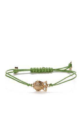 Nine West Vintage America Collection  Green Owl Slider Bracelet