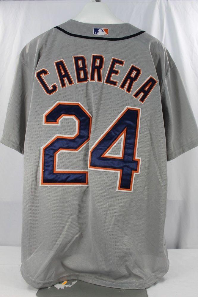 Detroit Tigers Miguel Cabrera  24 Gray Majestic Cool Base Jersey 52 Stitched   Majestic  DetroitTigers 1d82e83e4