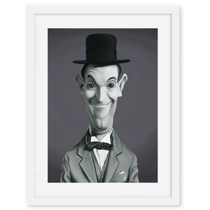 Stan Laurel art | decor | wall art | inspiration | caricatures | home decor | idea | humor | gifts