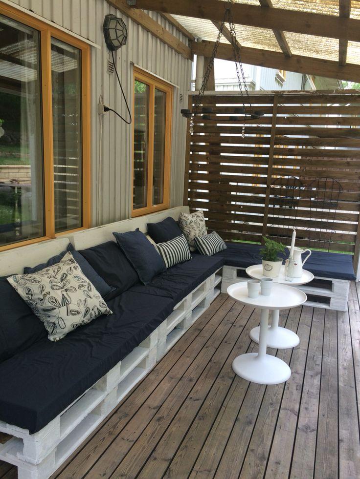 Soffa gjord av EU pall #palletsofa #pallet #sofa