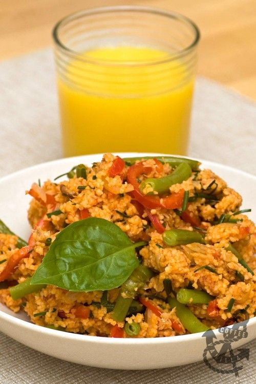 Tomato Couscous & Mackerel Salad with Dwarf Beans and Pointed Peppers