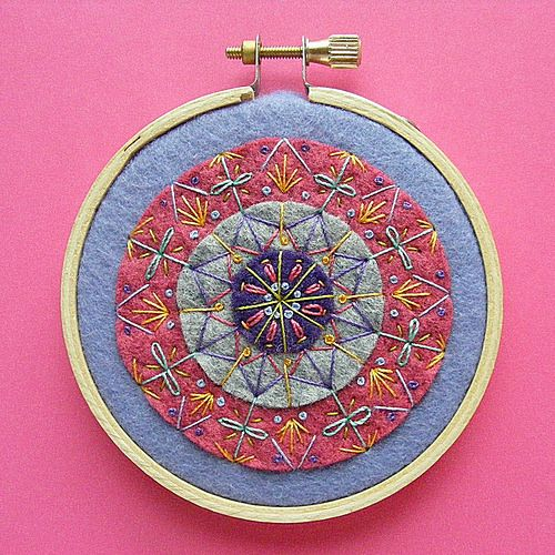 Wild Olive: spend some time // stitching in circles---I love the simple look to showcase embroidery.