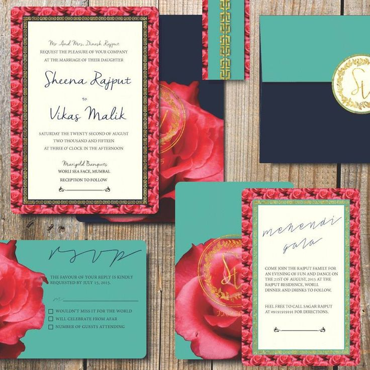 how to address couples on wedding invitations%0A The bright invitation for your guests  Photo by Pretty Gilded Designs   Chennai  weddingnet