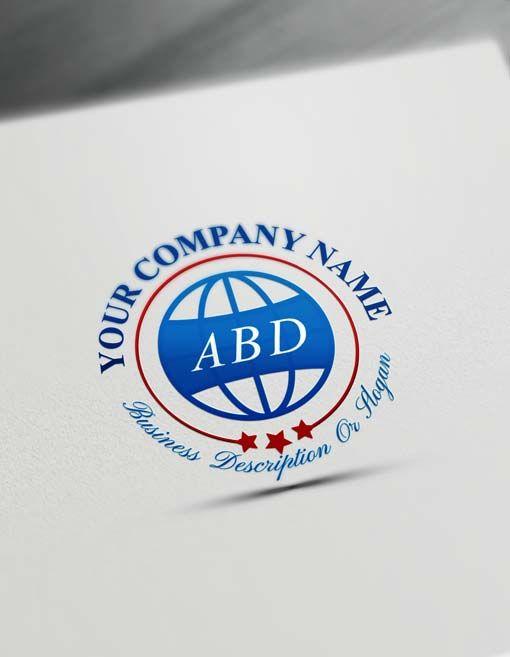 Globe Iso Logo Design Free Stamp Logo Maker Online E Commerce