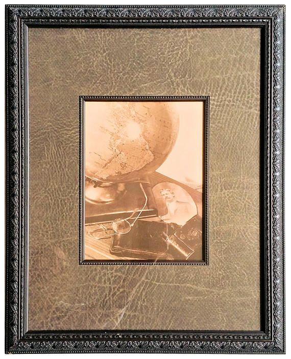custom frame matted sepia tone photograph globe glasses camera 20 x 16 steampunk - Michaels Custom Framing Cost
