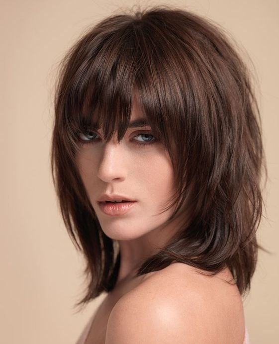 Layered Hairstyles With Bangs Fair 345 Best Shag Hairstyles Images On Pinterest  Hair Dos Hair Cut