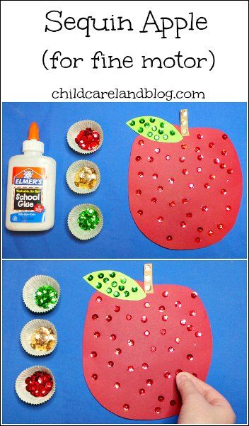 Fine motor craft with sequins