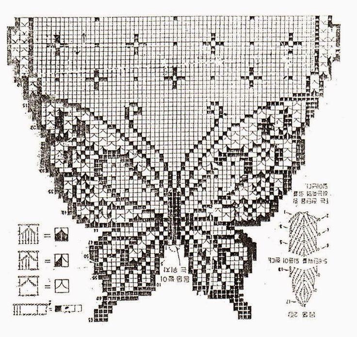 filet farfalla | Hobby lavori femminili - ricamo - uncinetto - maglia