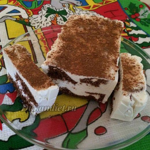 Бисквитно-творожный тортик | Диета Дюкана