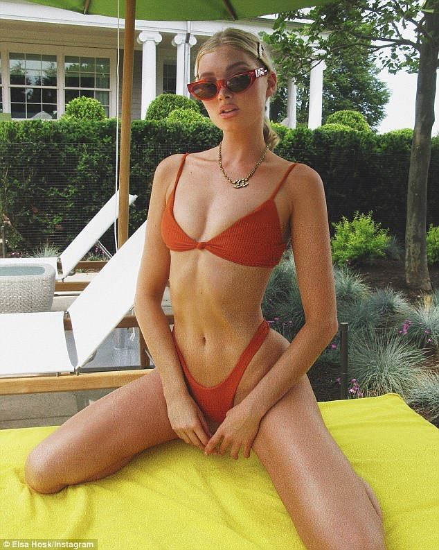 f48b6643f90e1 Emulate Elsa in a skimpy red Minimale Animale bikini  DailyMail Click to  buy it now