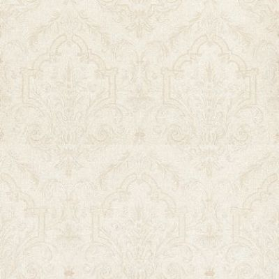 Albany Silks (FD56572) - Albany Wallpapers - An intricate patterned damask damask design in stone grey on opal white, with a woven texture. Vinyl. Please request sample for true colour match.
