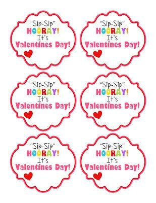 Kinzie's Kreations: Free Printable - Sip Sip Hooray straw Valentine printable