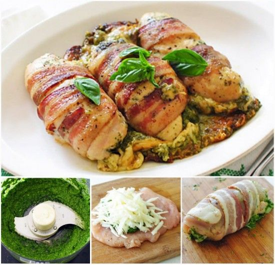 Bacon Wrapped Chicken Breast With Cheesy Pesto | The WHOot