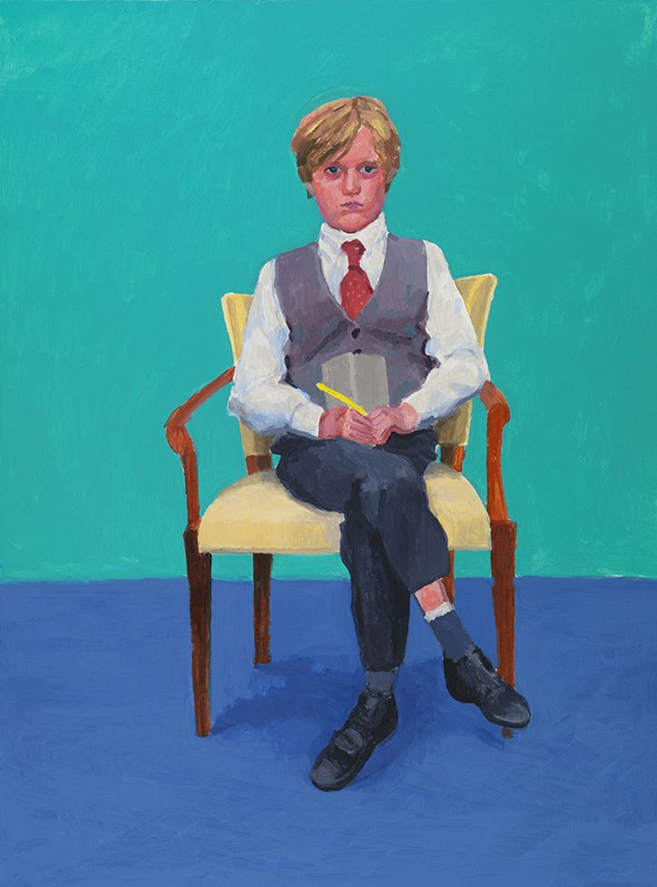 David Hockney, Rufus Hale, taken from 82 portraits and 1 still-life