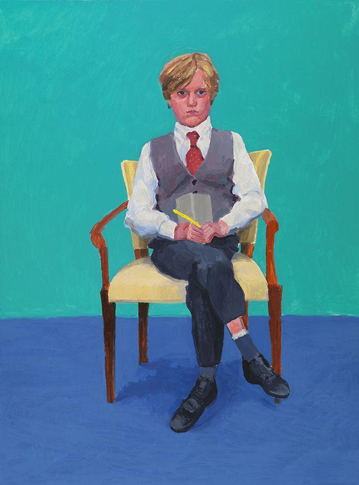 David Hockney, Rufus Hale, taken from 82 portraits and 1 still-life