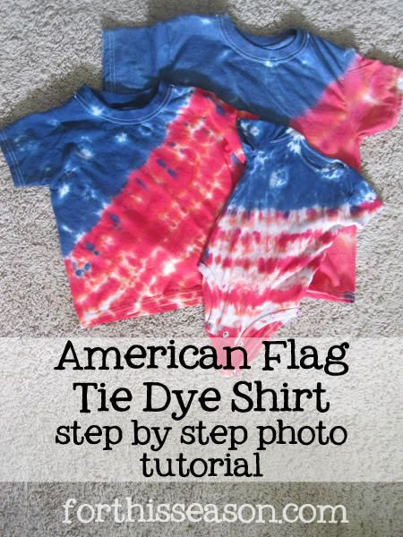 American Flag Tie Dye Shirt - step by step photo tutorial