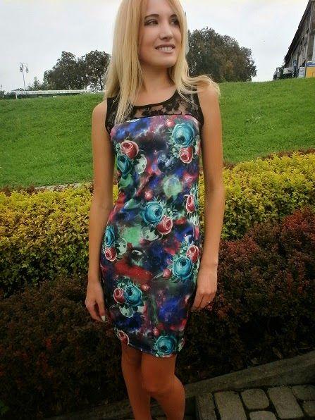 Claudia - moda i uroda: Kolorowa sukienka
