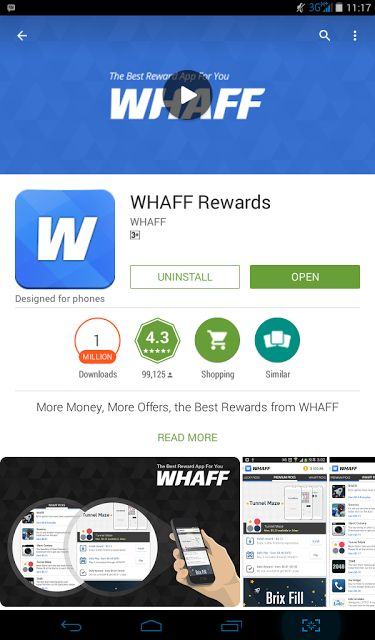 for cheap  quot WHAFF                                         App price           Rewards quot     Android