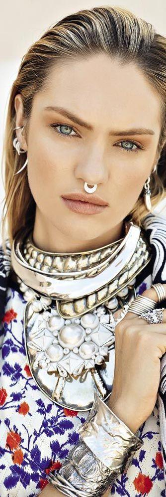 Candice Swanepoel • To south of paradise • Vogue Russia •≫∙∙☮ Bohème Babe ☮∙∙≪• ❤️ Babz ✿ιиѕριяαтισи❀ #abbigliamento #bohojewelry #bohosoul