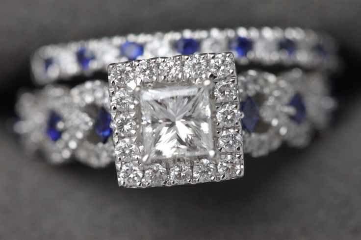 14k Vera Wang Love Collection Diamond Amp Blue Sapphire