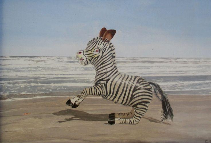 Opgewonden zebra