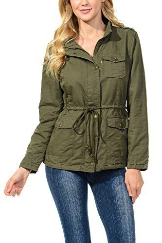 New Trending Outerwear: Auliné Collection Womens Military Safari Utility Fashion Anorak Jacket Fur Olive 3XL. Auliné Collection Womens Military Safari Utility Fashion Anorak Jacket Fur Olive 3XL   Special Offer: $23.99      299 Reviews The Auliné Collection Womens Military Safari Utility Fashion Anorak Jacket comes in either a sherpa faux fur lined option or no inner lining option. The faux fur...