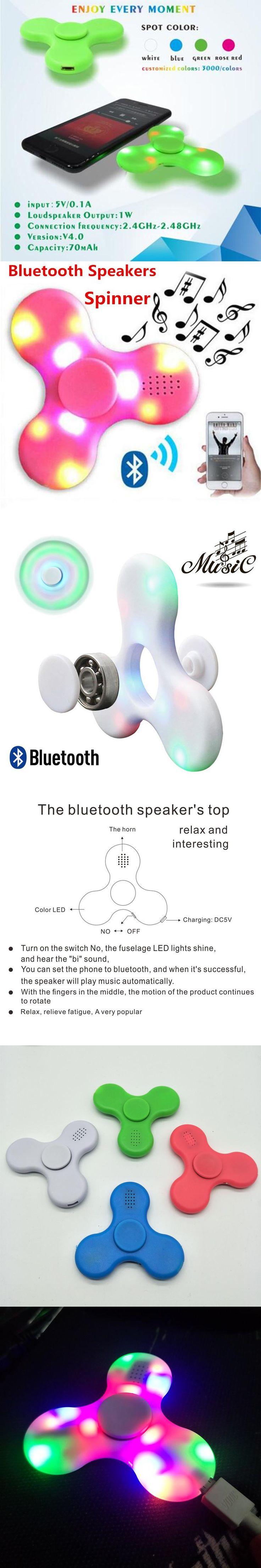 2017 COOL MINI wireless Speaker Music  EDC Hand Spinner For Autism And Kids Adult Funny Fidget hand Spinner Bluetooth Speaker