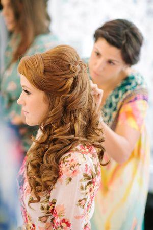 gorgeous curled hair   Justin DeMutiis #wedding