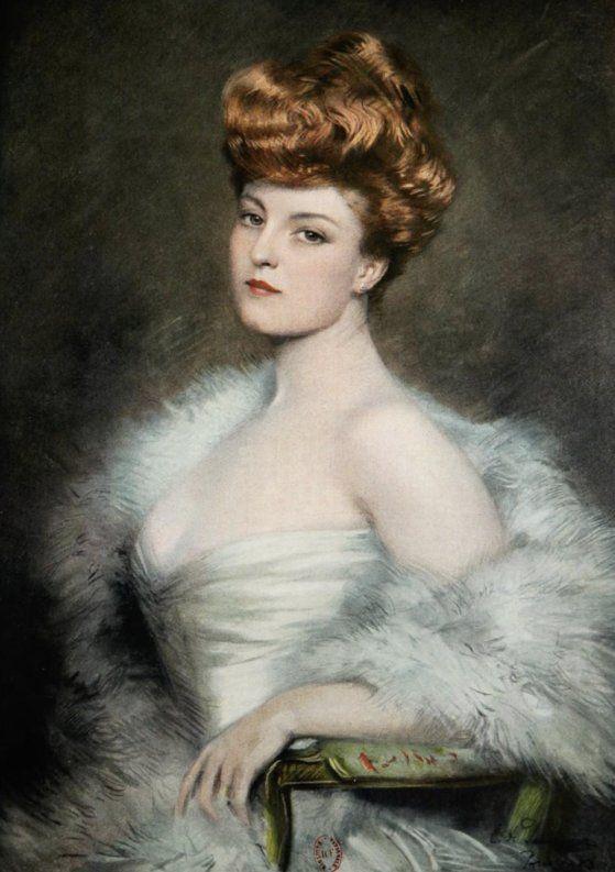 La Belle Epoque Glamour | Portrait de Gilberte Sergy, par Clemens von Pausinger, 1904 (1855-1938 ...