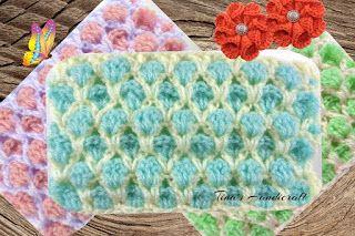 Tina's handicraft : video tutorial & pattern - maroccan crochet stitch...