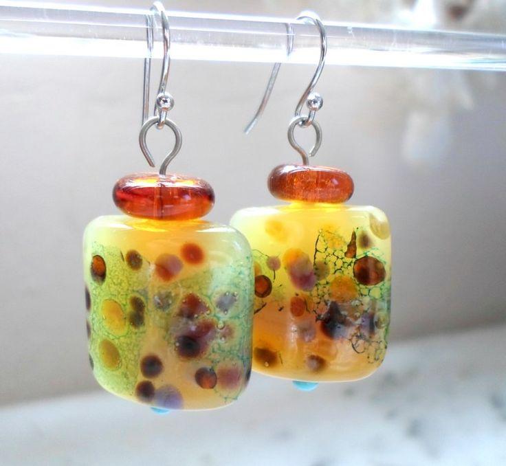 Glass Pastel Earrings by Candan Imrak on Handmade in Europe