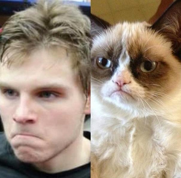 Alex Galchenyuk VS Grumpy Cat! LOL