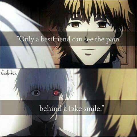"""""""Apenas o melhor amigo pode ver a dor por trás de um sorriso falso."""""""