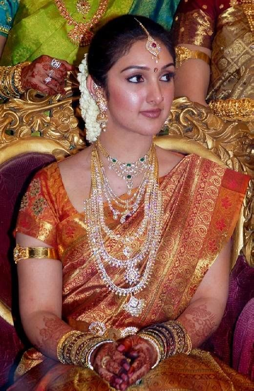 south indian actress in her bridal wear