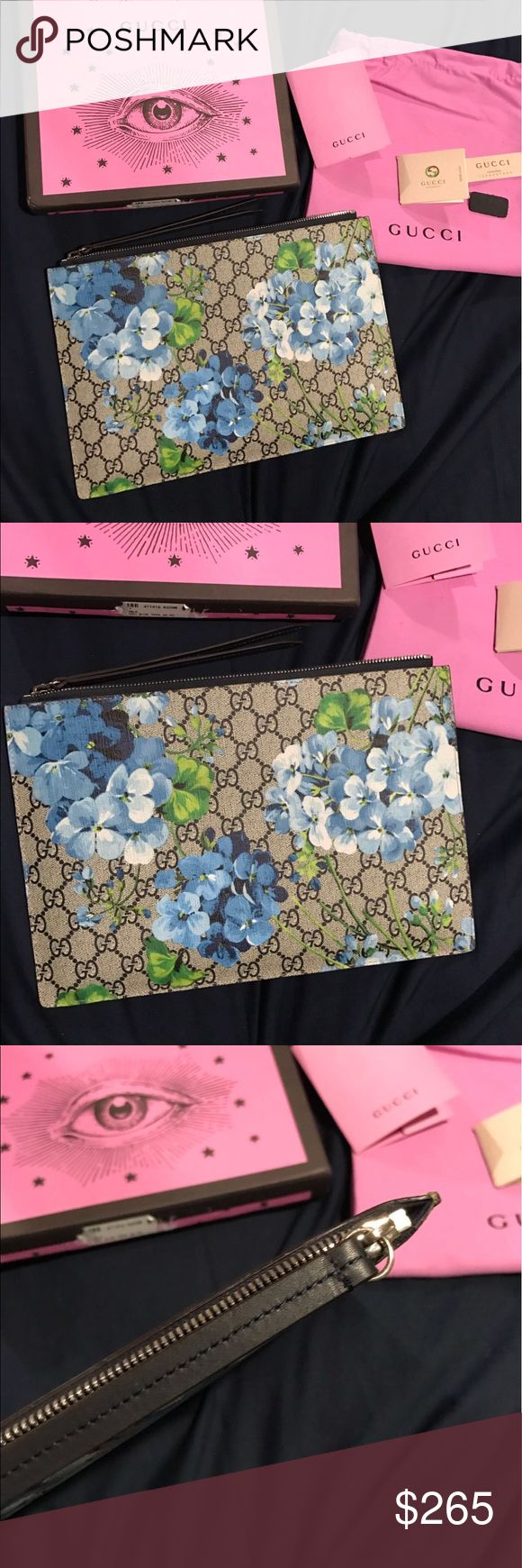 Gucci Blooms Floral Clutch Bag 🌺🌸🌷 Brand new! Comes with box and dust bag. Amazing quality. Price r e f I e c t s!! Large size clutch. Please ask all questions before buying. What you see is what you get 😊 Gucci Bags Clutches & Wristlets