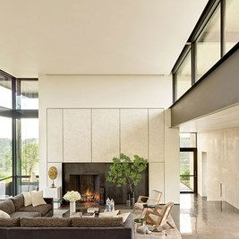 Strong but simple fireplace