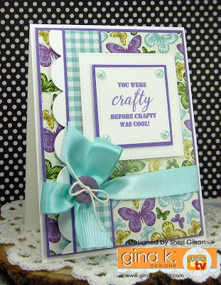 Paper Crafty's Creations : Gina K - Sending Love StampTV Kit