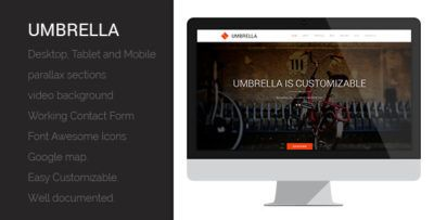 UMBRELLA - ONE PAGE MUSE TEMPLATE